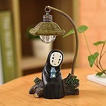 Spirited Away No Face Man Night Light in Table Desk Lamp Miyazaki Anime Gift For Kids Kids Toy Home Decor Decorative Crafts Sleep Lamp