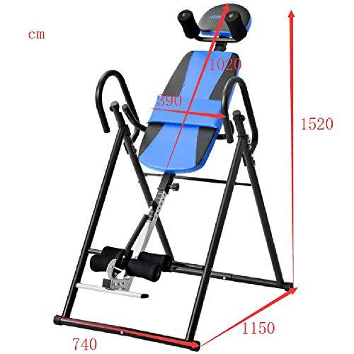 DAG-Outdoor Supplies Fitnessgeräte Self-Fitness Functional Mit ultradicker Rückenstütze bis zum Tisch Komfort-Rückenstreckmaschine Heavy Duty Inversion (Farbe : Blau, Größe : 152 * 74 * 115CM) -