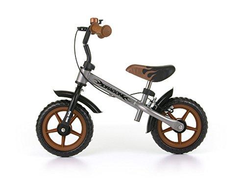 MillyMally 2145 Vélo sans pédale, draisienne pour enfant, avec roues de 10pouces, freins et...