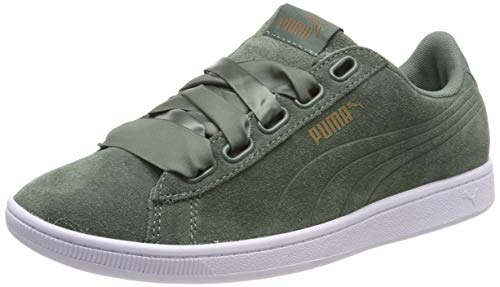 taille 40 628ee f6523 PUMA Suede Heart Velvet Rope 365111-01 Womens Shoes Size: 8 US Verde