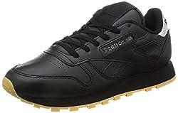 Reebok Classics Womens Cl Lthr Met Diamond Black and Gum Leather Running Shoes - 5 UK/India (38 EU)(7.5 US)