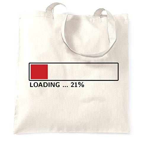 Tim And Ted 21. Geburtstag Tragetasche Loading 21% abgeschlossen Twenty One White One Size -