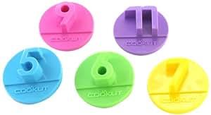 Cookut PARTY1 Set de 5 Découpes Gâteaux Polypropylène Multicolore