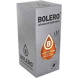 Paquete de 12 sobres bebida Bolero sabor Carrot & Orange
