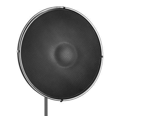 Jinbei Beauty Dish 50 cm Set - weißer Radar Reflektor mit passendem Wabenvorsatz / Grid im Fotostudio Bundle