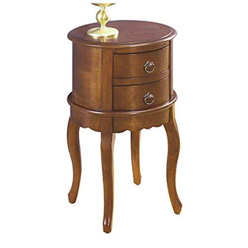Home Table Computertisch Massivholz Beistelltisch Amerikanischer Klassischer Couchtisch Doppelschublade Nachttisch Schlafzimmer Wohnzimmer, B31cm *...