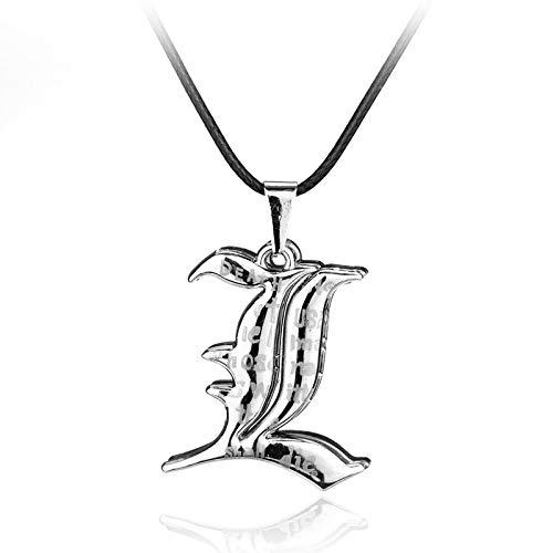 Fashion Anime Death Note Schmuck Metal Halskette Kreuz Logo Pendant Black Death Notebook Halskette L Yagami Men Women Cosplay Gift -