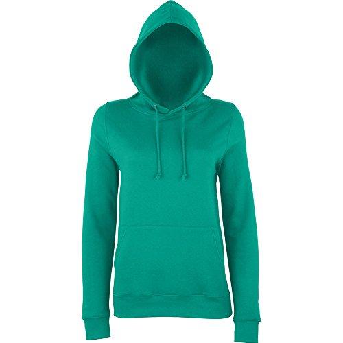 Awdis Hoods Ladies Girlie College Hoodie Turquoise Jade