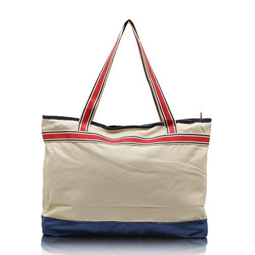 Bag Street präsentiert von JeJo Bags® - Borsa da spiaggia Unisex �?adulto beige