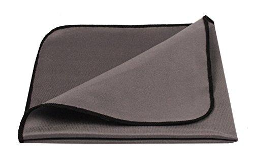 Putz-Liesl - Spezielles Pflegetuch für empfindliche Hochglanz & Lack Oberflächen - Mikrofasertuch für Hochglanz-Küchen, Lackmöbel, Autopflege, Brillenreinigung, Klaviere - extra fein - Grau