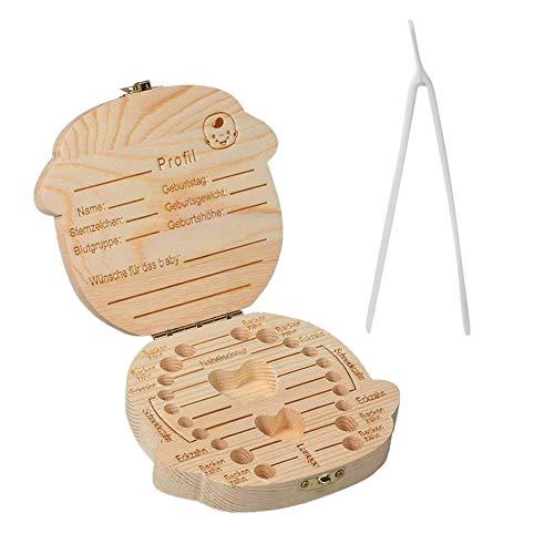 TAOtTAO Teeth Storage Laubzähne Aufbewahrungsbox Speichern Holz Aufbewahrungsbox für Kinder Boy & Girl (A)