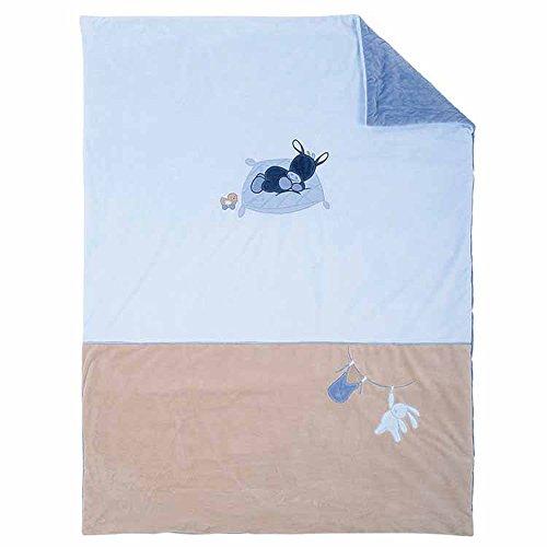 Nattou Couverture Bébé, Garçon, 135 x 100 cm, bleu - Alex et Bibou