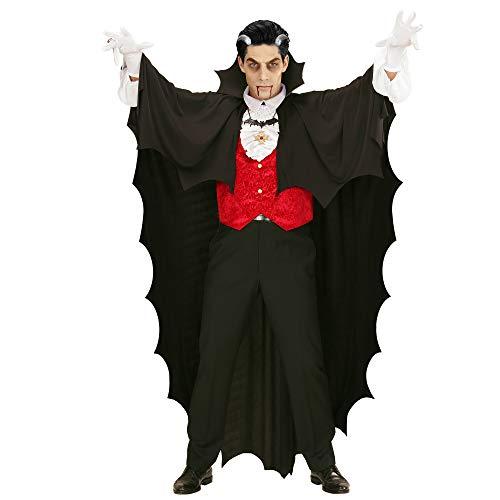 Kostüm Fürst Finsternis Der Vampir - Widmann 00097 - Umhang Vampir, schwarz, 150 cm