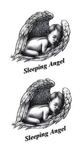 Autoadesivi provvisori del tatuaggio del bambino delle ali di angelo di sonno del tatuaggio di arte del braccio del braccio della spalla impermeabile