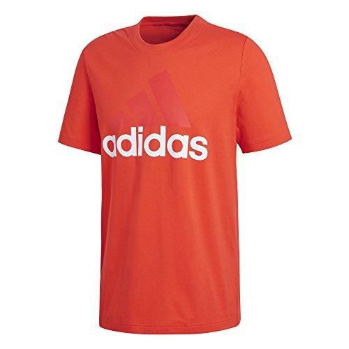 adidas ESS Linear Camiseta, Hombre, Multicolor (Rojo), L