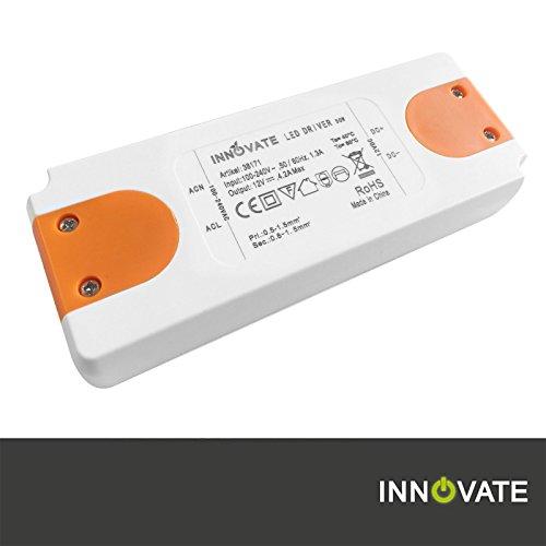 Innovate LED Trafo ECO 12 Volt / DC, 0-50W - LED Treiber - Transformator - Netzteil - Driver (12 Volt - 50 Watt) (12v Dc Treiber)
