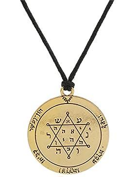 lemegeton die Zweite Pentagramm von Jupiter Siegel Salomons Charm Talisman Power Halskette Amulett Halskette