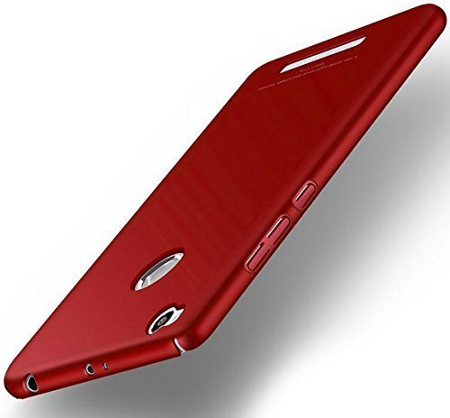 V Com 4 Cut All Sides Protection Sleek Ipaky Hard Case Back Cover for Xiaomi Redmi 3s Prime (Red)