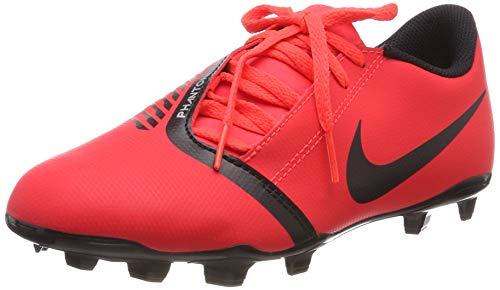 Nike Unisex-Kinder Jr Phantom Venom Club Fg Fußballschuhe Mehrfarbig Black/Bright Crimson 600, 38 EU