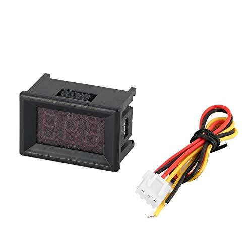 0-100 V 0.36in 3 fili LED display digitale pannello voltmetro voltmetro elettrico volt tester per auto batteria auto moto JBP-X