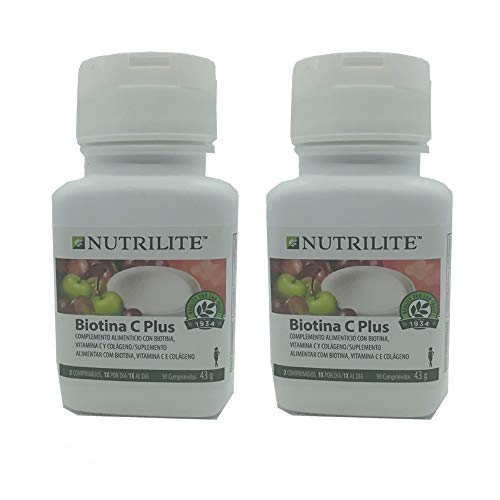 2 x Biotin C Plus NUTRILITE - 2 x 90 Tabletten / 43 g - Amway - (Art.-Nr.: 100305)