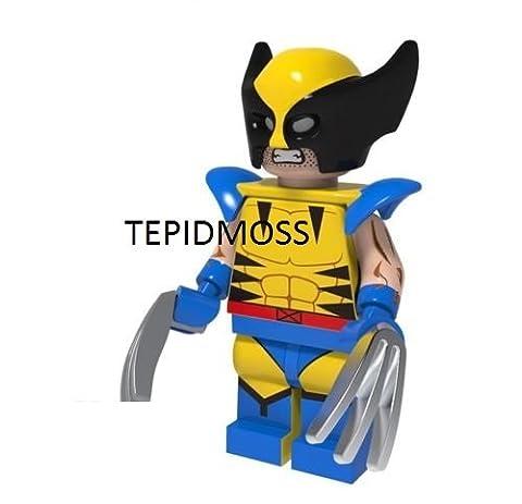 tashred32 Custom X-Men Marvel Super Heroes Wolverine Minifigure with Hair