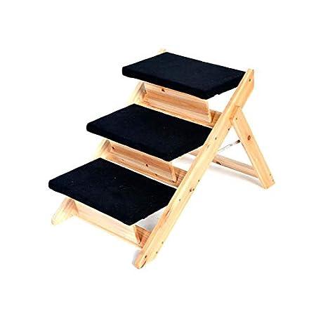 Maxx Hundetreppe und Katzentreppe | 3-stufige Treppe für Hunde und Katzen bis 10 kg | Klappbare Hunderampe für Auto und…