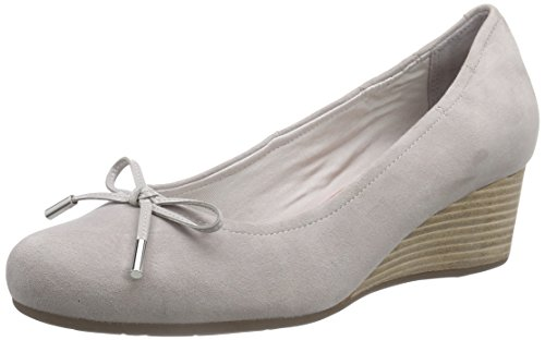 Rockport Total Motion Tied Pump Damen Durchgängies Plateau Ballerinas Grau (Smog)