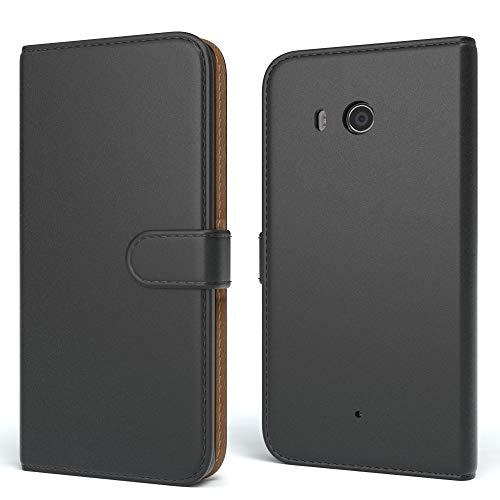EAZY CASE LG G4C Hülle Bookstyle mit Standfunktion, Book-Style Case aufklappbar, Schutzhülle, Flipcase, Flipstyle, Flipcover mit 2 Kartenfächern aus Kunstleder, Schwarz
