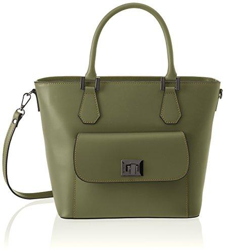8855 37x25x17 Damen Schultertasche Borse Verde Verde cm Chicca yB46ZcTy