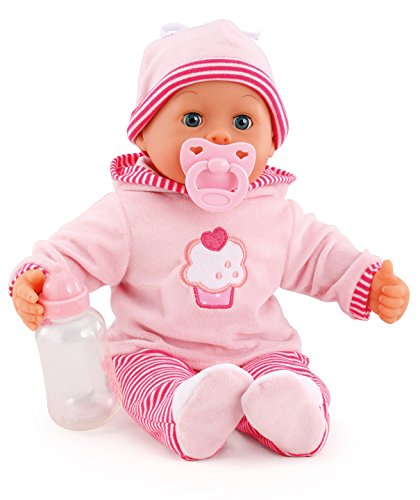 Sprechende Baby-puppe (Bayer Design 93816 - First Words Baby Puppe, 38 cm)