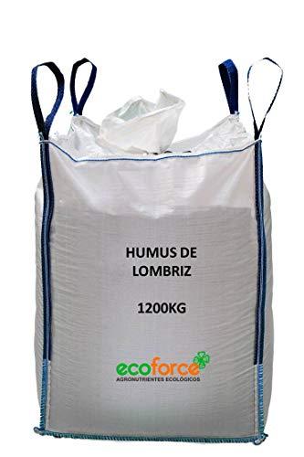 CULTIVERS Humus de Lombriz ecológico 1200 kg. Abono para Plantas Apto para Todo Tipo de Plantas....