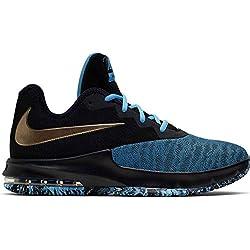 Nike Air MAX Infuriate III Low, Zapatillas de Baloncesto para Hombre, Multicolor (Black/Mtlc Red Bronze/Lt Current Blue 6), 43 EU