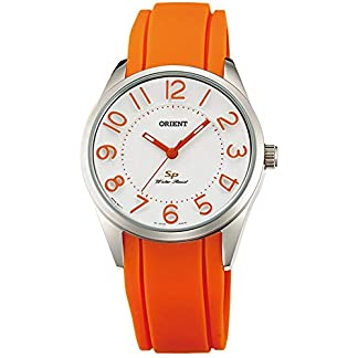 Orient Reloj Analógico para Mujer de Cuarzo con Correa en Caucho FQC0R008W0