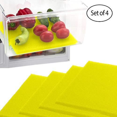 Debbie Meyer Green (Dualplex Früchte- und Gemüse-Lebensverlängerung für Kühlschrank/Schubladen (4 Stück) - verlängert die Lebensdauer Ihres Produktes bleibt frisch und verhindert Verschütten, 30,5 x 38,1 cm (gelb))