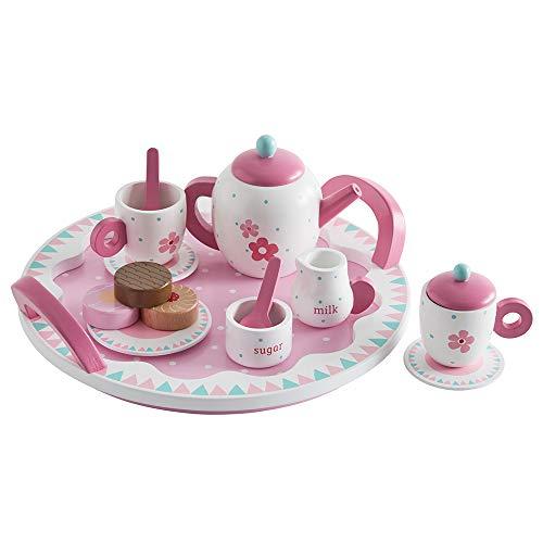 Great Little Trading Co. Wooden Tea Set, Children's Tea Set