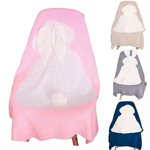 efanr Newborn Baby Cute Comfort Wickeltuch Decke, Kleinkind Kids Knit Decke Gestrickt Infant Schlafsack Schlaf Sack Buggy Wrap Quilt 75x 110cm