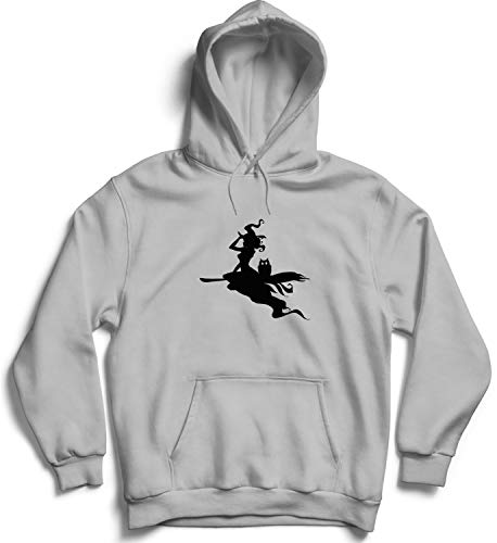 Halloween Witch Flight Shadow_007284 Hooded Pullover Unisex LG Black Hoodie