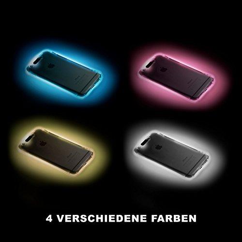 f00b7a0b618f78 Need That Original Samsung leuchtende LED Handy-Hülle für  unterschiedlichste Modelle in Verschiedenen Farben (Samsung A5 2017,  Durchsichtig)