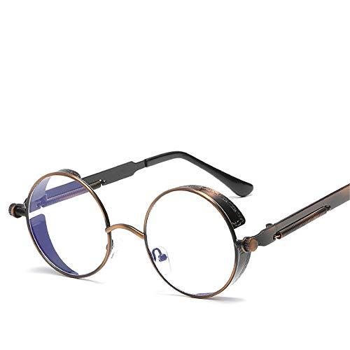 Sonnenbrillen, Neue Sonnenbrillen Mit Rundem Gestell, Federtempel Aus Metall, Farbenfrohe Retro-Sonnenbrillen Für Herren Und Damen (14)
