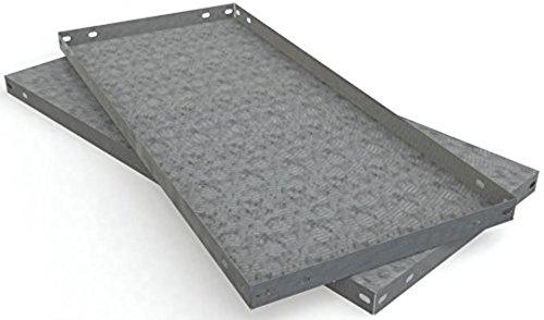 Freistehende Arbeitstisch (simonrack Tablett-Metalica 500x 200mm verzinkt)