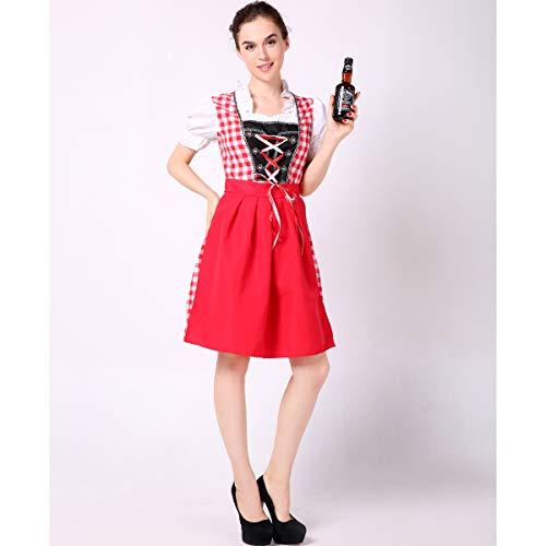 Special Bridal Frauen-Bier-Rosa-Kostüm Halloween Fancy German Oktoberfest Sexy Beer Girl Costume