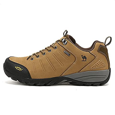 Camel Men's Outdoor Lace-Up Walking Shoes Color Light Khaki Size