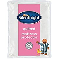 Silentnight Quilted Mattress Protector with Straps, Polyester, Double