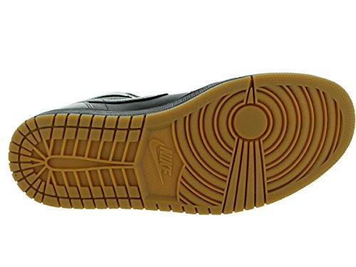 Nike Air Jordan 1 Retro High Og, Chaussures de Sport Homme, Blanc, S Negro / Marrón (Black / Black-Gum Light Brown)