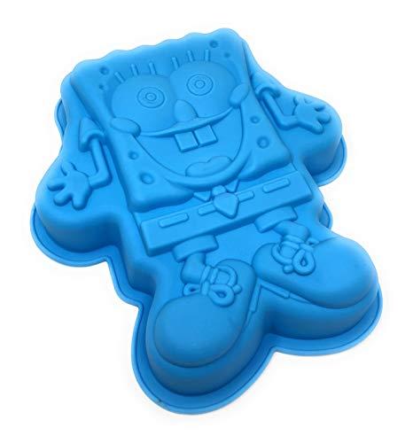 Schwammförmiger, antihaftbeschichteter Silikonkuchen Formenschale (blau)