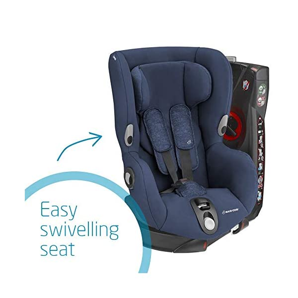 Maxi-Cosi Axiss Toddler Car Seat Group 1, Swivel Car Seat, 9 Months-4 Years, Nomad Blue, 9-18 kg Maxi-Cosi Toddler car seat, suitable from 9 months to 4 years (9 - 18 kg) Swivels 90 degree degrees allows for front-on access to get your toddler in and out of the car more easily Maxi-Cosi Axiss car seat has 8 comfortable recline positions 4