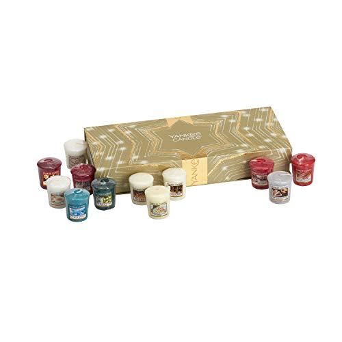 Yankee Candle set de regalo de Navidad con 12velas votivas aromáticas, fragancias navideñas