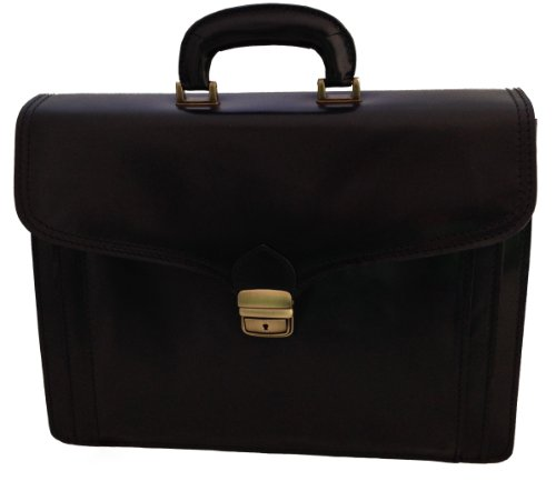 Porte-documents Sac en cuir Hommes Grande Porte Documents, 41x31x18cm, 100 % cuir véritable Fabriqué en Italie