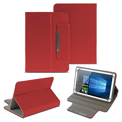 NAUC Universal Tasche Schutz Hülle 10-10.1 Zoll Tablet Schutzhülle Tab Case Cover Bag, Farben:Rot, Tablet Modell für:Kiano Slim Tab 10.1